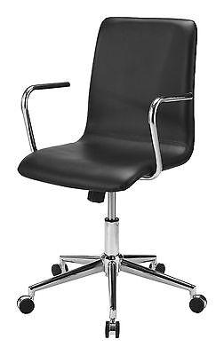 Bürostuhl Firenze Kunstleder schwarz Chefsessel Drehstuhl Schreibtisch Stuhl