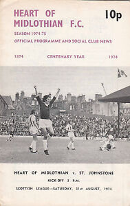 Hearts v St Johnstone 1974/5