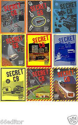 Secret CB magazine, 1 thru 29 on PDF format, DVD disc. Yaesu Icom Kenwood Galaxy
