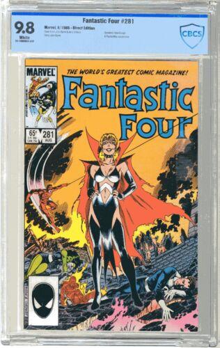 Fantastic Four  #281  CBCS  9.8  NMMT  White pgs  8/85  Daredevil, Hate-Monger &