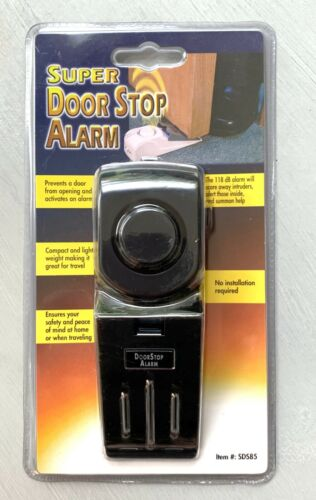 Super Door Stop Alarm (Model SDS85) - Great For Travel & Peace of Mind! - NEW