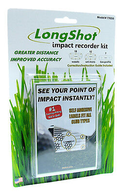 LongShot Golf Impact Recorder Kit - 37 Adhesive Club Labels, Long Shot Stickers