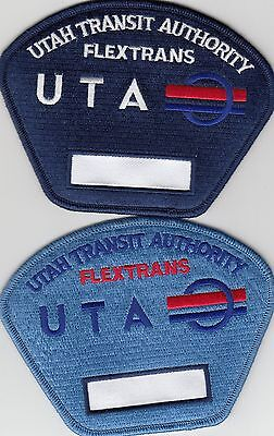 (2) DIFFERENT UTAH FLEXTRANS AUTHORITY POLICE PATCHES UT BUS DRIVER PATCH