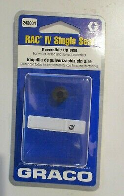New Oem Graco 243004 Rac Iv Single Seal Reversible Tip Seal Brand New Sealed
