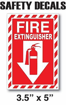 Fire Extinguisher Sticker Decals Inspection Or Hose Alarm Smoke Fdc