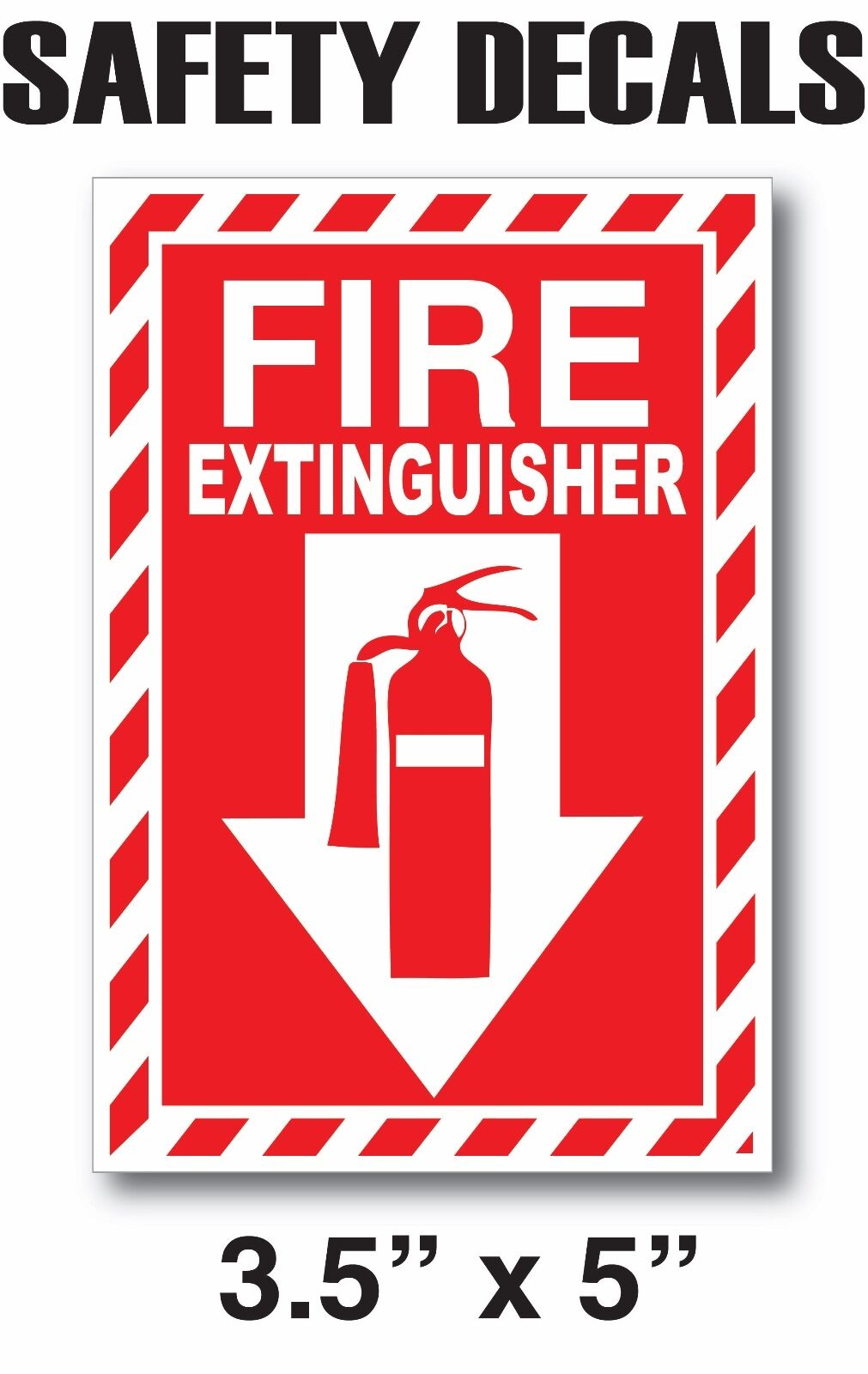 FIRE EXTINGUISHER Sticker Decals Inspection or Hose Alarm Sm
