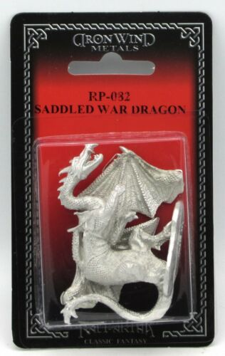 Ral Partha RP-082 Saddled War Dragon (Dragons) Winged Drake Chaos Warrior Mount