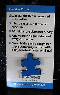 Blue Puzzle Piece Pin (Autism Awareness Pin Autism Speaks Blue Puzzle Piece Tie Tack Lapel Pin)