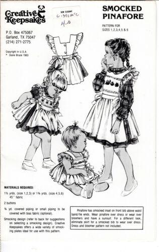 """""""Smocked Pinafore"""" ©1983 Creative keepsakes Sewing Smocking Pattern Girls"""