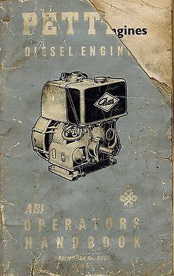 Petter Vintage Abi Diesel Engines Operators Manual 8057