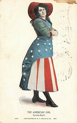 C6657 The American Girl Parade Rest! Red White & Blue Attire Antique PC # 1078