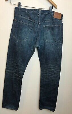 Men's Paul Smith Red Ear Button Fly Jeans Selvedge Made in Japan 30 x 31