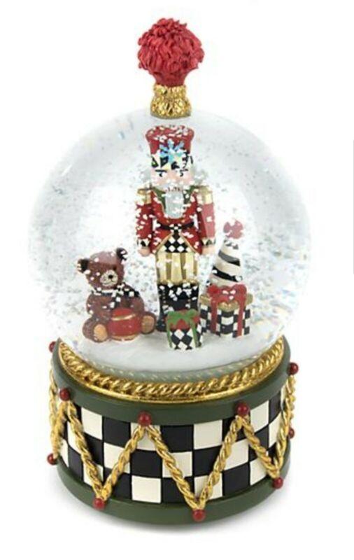 Mackenzie Childs NUTCRACKER Musical Snow Globe