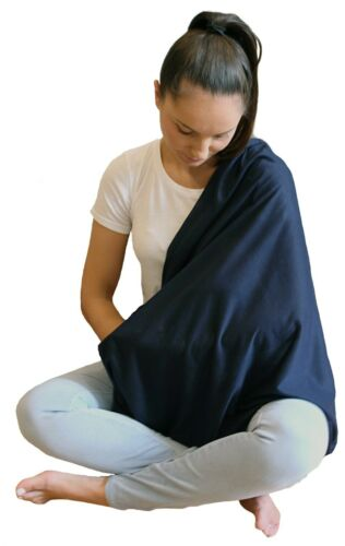 Infinity Nursing Scarf Breastfeeding Cover for Privacy Feeding Baby Navy Blue