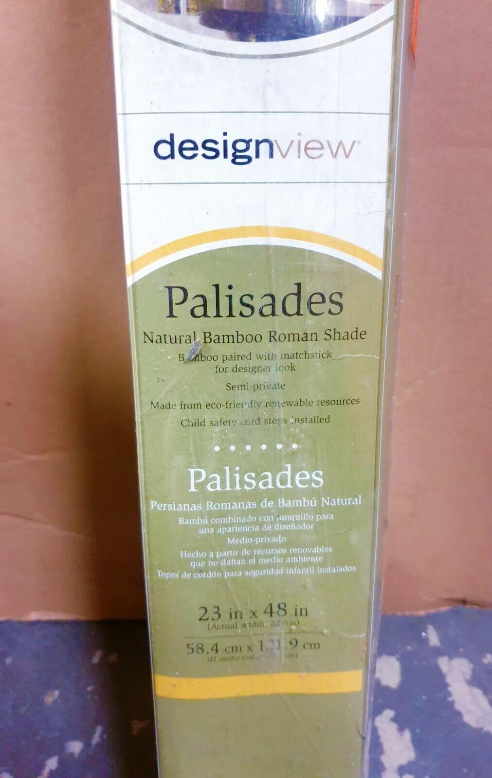 designview blinds palisades natural bamboo roman shade
