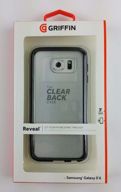 Griffin Reveal Hartschale Back Cover Schutzhülle Samsung S6 Schwarz, NEU & OVP