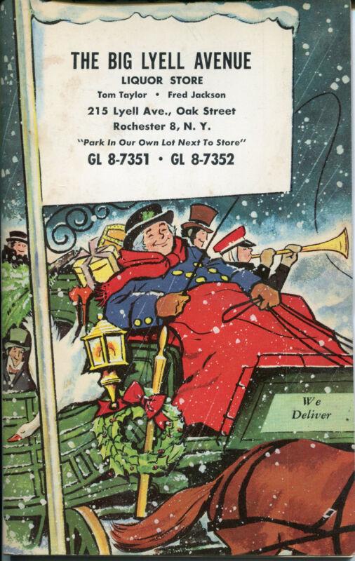 1960 BIG LYELL AVENUE Liquor Store Advertising Catalog Book Rochester NY