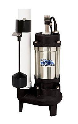 Basement Watchdog Sw-50v Submersible Sewage Pump Stainless Steel