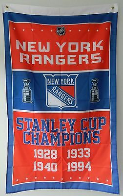 New York Rangers Stanley Cup Champions Flag 3Ft X 5Ft Polyester Nhl Banner
