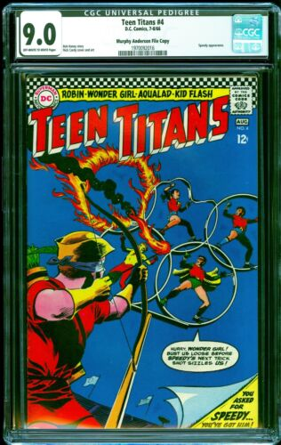 Teen Titans # 4 CGC 9.0 -- 1966 -- Nick Cardy cover.  Pedigree.  #1970092016