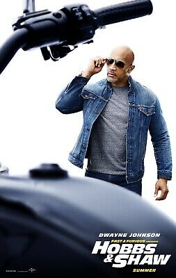 Fast and Furious Hobbs and Shaw movie poster THE ROCK Photo Print
