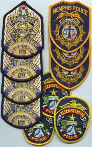 STATE ACADEMY MEMPHIS ELIZABETHTON TENNESSEE TN 10 Police Patches POLICE PATCH