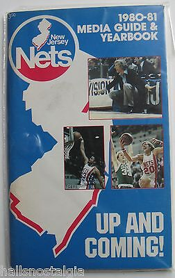 1980-81 New Jersey Nets Basketball Media Guide & Yearbook; nice blue cover - Cover New Jersey Nets