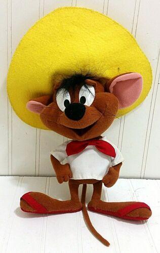 Rare SPEEDY GONZALES Talking Plush Doll Vtg Stuffed Animal Looney Tunes Gonzalez