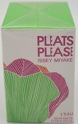 Pleats Please L'EAU by Issey Miyake 3.3oz EAU DE TOILETTE (New in Sealed Box)