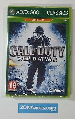 Call of Duty World at War, Xbox 360, Pal-Esp. Nuevo.