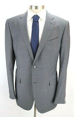 NWT $3250 ERMENEGILDO ZEGNA Wool Silk Suit 46 L (56 EU) Grey Leggerissimo