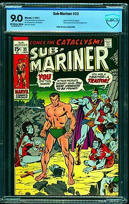 Sub-Mariner #33 CBCS VF/NM 9.0 Off White to White Marvel Comics