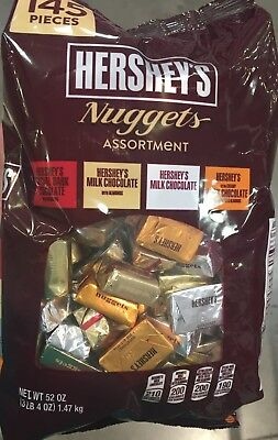 (HERSHEY'S Nuggets Assortment Party Candy:Creamy Milk,Dark Chocolate Net 52 oz)