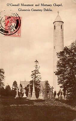 O'CONNELL MONUMENT & MORTUARY CHAPEL GLASNEVIN CEMETERY DUBLIN D.ARCY POSTCARD