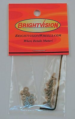 20 SILVER 1-72 Button-Head Screw-In Rivets, Washers & Wrench For Customs Restore
