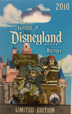 Disneyland 2017 Pirates of the Caribbean Map Piece of Disney History POH LE Pin