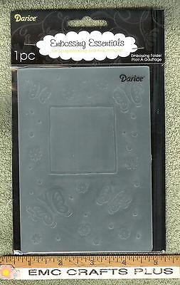 Darice butterfly W/frame Embossing Folder A2