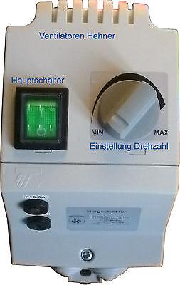 10 A 230 V Drehzahlregler Regler Schalter stufenlos für Lüfter Ventilator