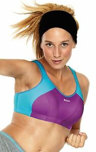 SHOCK-ABSORBER-SPORTS-BRA-B4490-PURPLE-TURQUIOSE-NEW-LEVEL-4-34B-40D