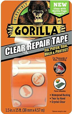 Gorilla 6015002 Crystal Duct Tape 1.5 X 5 Yd Pack Of 1 Clear