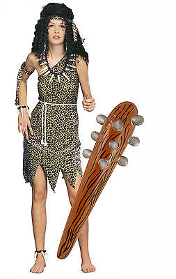 Cavewoman Outfits (Cavewoman Ladies Jungle Tarzan Fancy Dress Costume Outfit + Inflatable)