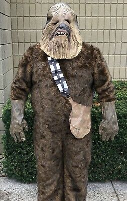 Chewbacca Adult Deluxe Costume Star Wars Wookie Rubies - Wookie Halloween Costume