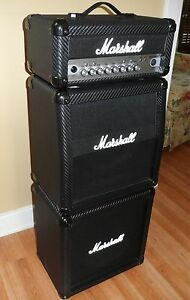 VTG MARSHALL MG15 HCFX Micro Mini FULL Stack Straight Slant Cabinet HEAD JCM Amp