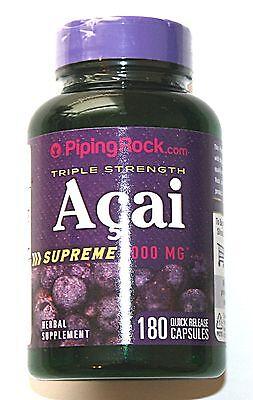 180 Capsules Triple Strength Acai Berry Supreme 3000mg 20:1 Fruit Extract Pills