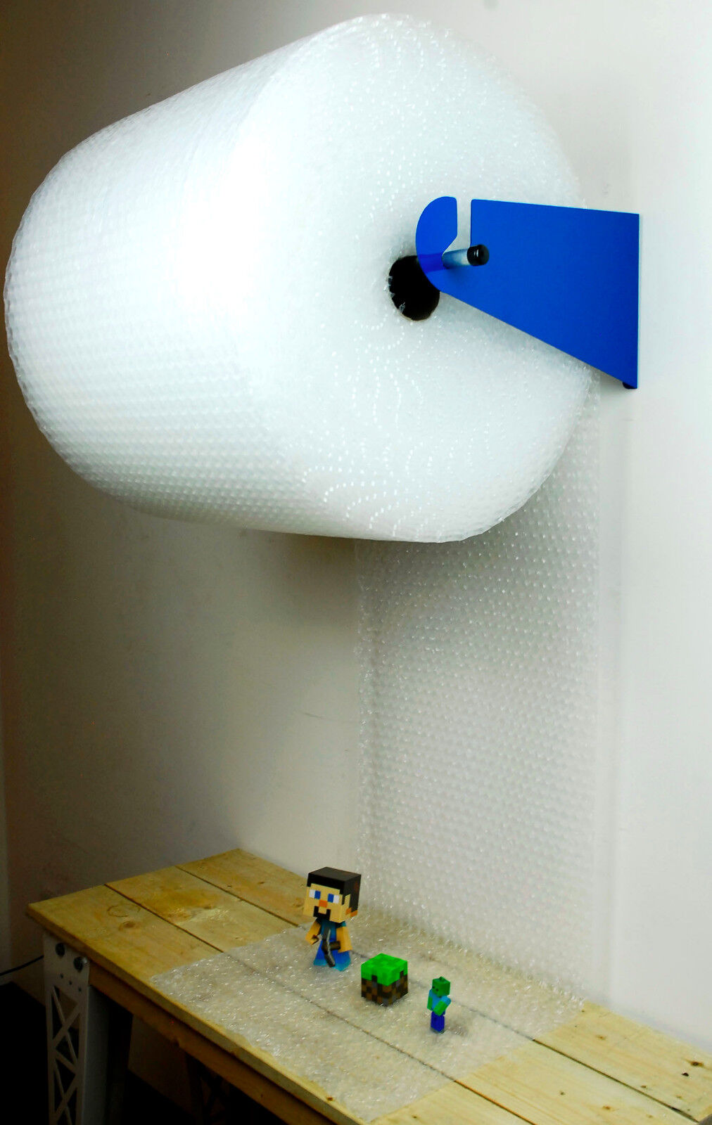 Bubble Wrap Roll Wall Ceiling Mount Dispenser Kit Tape
