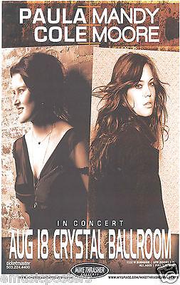 MANDY MOORE / PAULA CORE 2007 PORTLAND CONCERT TOUR POSTER - Pop, Dance Music