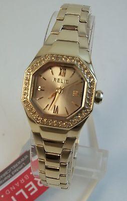 2cd805c9dfdd Relic de Fossil Ainsley Micro Tono Dorado Pulsera Reloj Mujer Zr34196