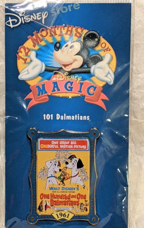 Disney DS 12 Months of Magic Movie Poster 101 Dalmatians Pongo Perdita VHTF NIP
