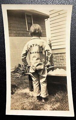 CHILD POSING HART PARR MECHANIC JUMPSUIT / COVERALLS UNIFORM ~ ORIGINAL PHOTO ~ - Children's Mechanic Coveralls