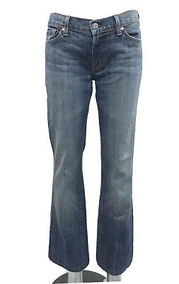 7 For All Mankind Women's Jeans Bootcut Distressed Low Rise Size 29 Loose Fit